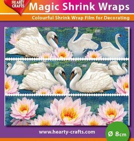 Hearty Crafts Magic Shrink Wraps, Holo,Swan (⌀ 8 cm)
