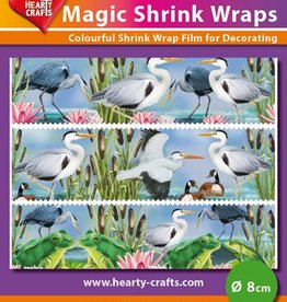 Hearty Crafts Magic Shrink Wraps, Herons (⌀ 8 cm)