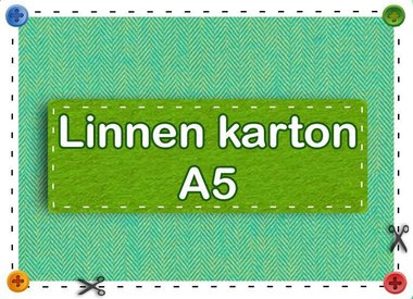 Linnen karton A5