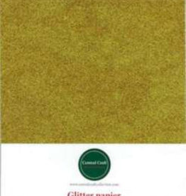 Central Craft Collection Glitter paper gold A4