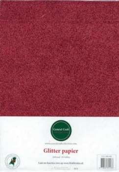 Central Craft Collection Papier Pailleté Rouge A4 Hobbytheek