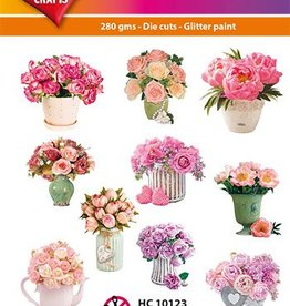 Hearty Crafts Easy 3D-Toppers Flowers in vase