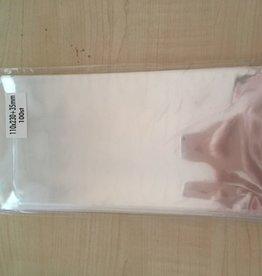 Hobbycentraal Zakjes met plakstrip 110x230+35mm