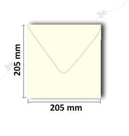 Envelopes square 205x205 mm ivory