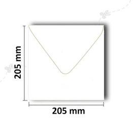 Konvolutter kvadratisk 205x205 mm hvid