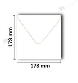 Enveloppen vierkant 178x178 mm wit