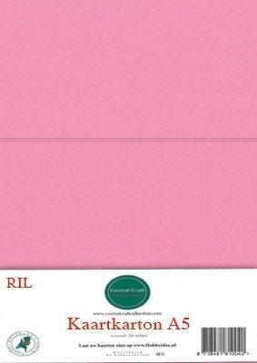 Hobbycentraal A5 Kaartkarton 20 vel roze