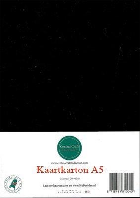 Hobbycentraal A5 Kaartkarton 20 vel zwart