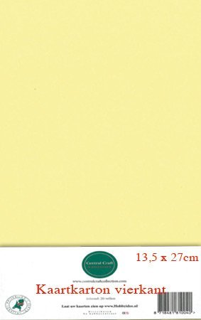 Hobbycentraal 13,5 x 27 cm Kaartkarton   20 vel  geel