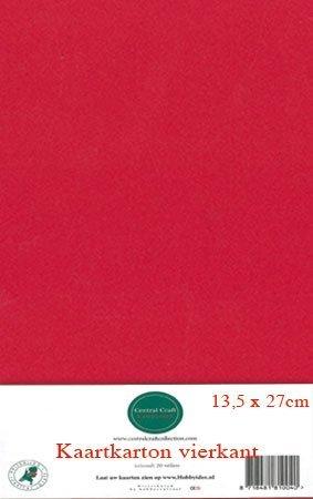 Hobbycentraal 13,5 x 27 cm Kaartkarton   20 vel  rood