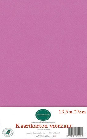 Hobbycentraal 13,5 x 27 cm Kaartkarton   20 vel  donker roze