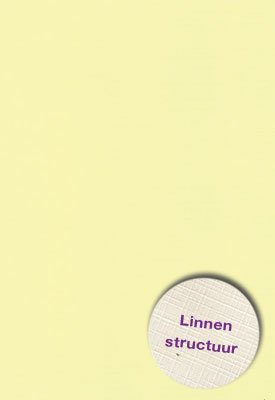 Hobbycentraal A5 Karton Linnen  10 vel   geel