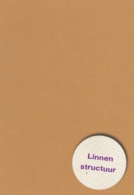 Hobbycentraal A5 Karton Linnen  10 vel   l.bruin