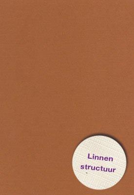 Hobbycentraal A5 Karton Linnen  10 vel   L Bruin