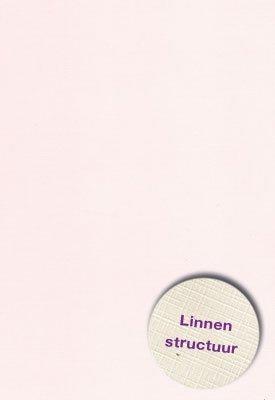Hobbycentraal Karton 13,5_27cm Linnen  10 vel   Zalm