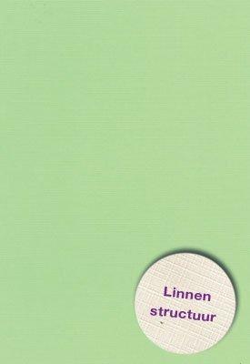 Hobbycentraal 13,5 x 27 cm  Linnen 10 vel licht groen