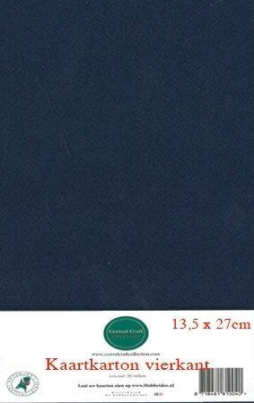 Hobbycentraal 13,5 x 27 cm Kaartkarton   20 vel  donker blauw