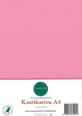 Hobbycentraal A4 Kaartkarton  10 vel  roze