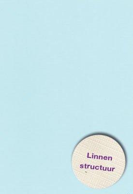 Hobbycentraal A5 Karton Linnen  10 vel   l. blauw