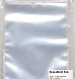 Hobby Crafting & Fun Resealable bag with round hole, transparent, 100x150mm, 20pcs/ bag