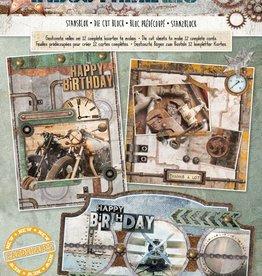 Studiolight Stansblok A4, content 12 sheets die cut, Industrial nr 58