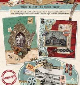 Studiolight Stansblok A4, content 12 sheets die cut, Vintage nr 59