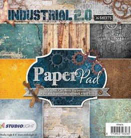 Studiolight Paper Pad 15 x 15 cm Industrial 2.0, Nr.74