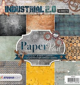Studiolight Paper Pad 15 x 15 cm Industrial 2.0, Nr.73