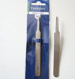Hobby Crafting & Fun Tweezers, super fine tip straight, stainless steel, 12.3 cm, 1 pce/ header bag