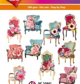 Hearty Crafts Easy 3D-Toppers Chairs/Flowers