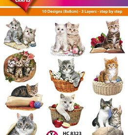 Hearty Crafts Easy 3D-Toppers Cats
