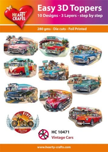 Hearty Crafts Easy 3D-Toppers - Vintage Cars