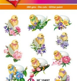Hearty Crafts Easy 3D-Toppers Easter Chicks