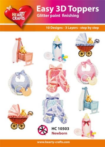 Hearty Crafts Easy 3D-Toppers Baby Born-Boy-Girl