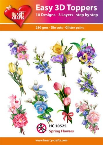 Hearty Crafts Easy 3D-Toppers Spring Flowers
