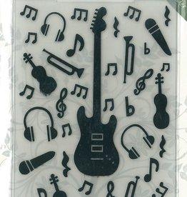 Romak Embossing folder Music