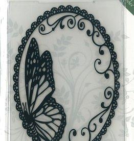 Romak Prægning mappe Butterfly