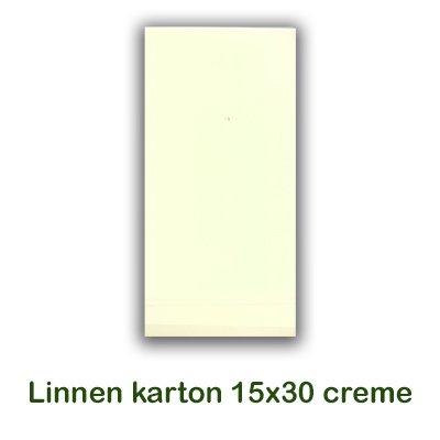 Hobbycentraal Karton 15x30 cm Linnen creme