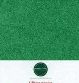 Central Craft Collection Glitterpapir grøn A4