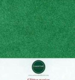 Central Craft Collection Papier pailleté vert A4