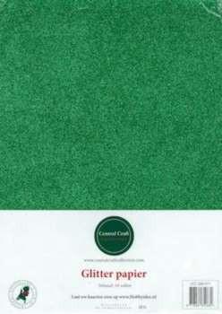 Central Craft Collection Glitterpapier groen A4