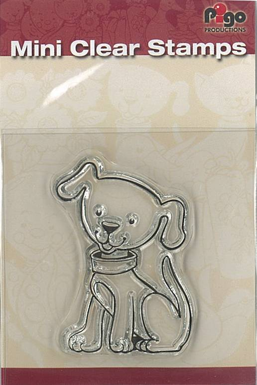 Pigo Productions Mini Clear Stamps - Hond