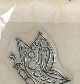 Pigo Productions Mini Clear Frimærker - Butterfly