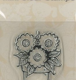 Pigo Productions Mini Clear Frimærker - Blomster