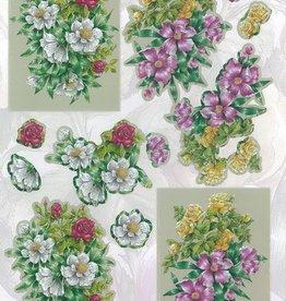 Die-cut flowers