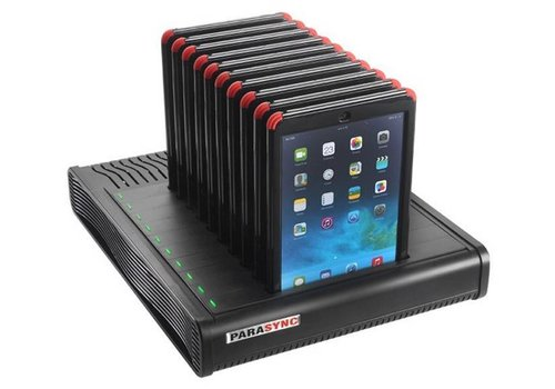 "Parotec-IT charge & sync i10 Parasync desktop docking station voor 10 iPads 9.7"""