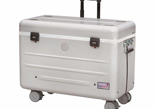 """Parat charge i10-KC koffertrolley voor 10 tablets 9-11"""" met kidscover zonder vakindeling zilvergrijs"""