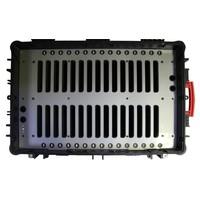 """thumb-iNsync C14; robuuste koffer voor 30 iPad Air en 10""""-11"""" tablets, koffer/kar op wieltjes met slot voor opbergen, opladen, synchroniseren & transport-9"""
