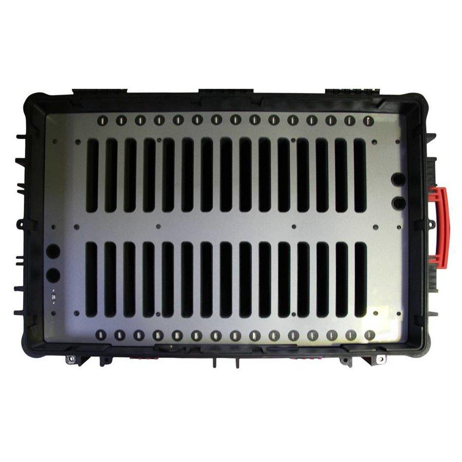 """iNsync C14; robuuste koffer voor 30 iPad Air en 10""""-11"""" tablets, koffer/kar op wieltjes met slot voor opbergen, opladen, synchroniseren & transport-9"""