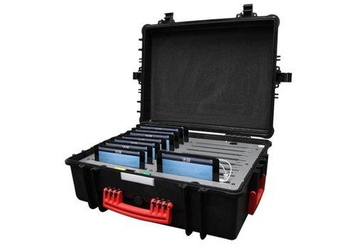 """Parotec-IT charge & sync C34 Koffer fuer 16 iPad mini und 8"""" Tablets ohne und mit schlanke Schutzhuelle"""
